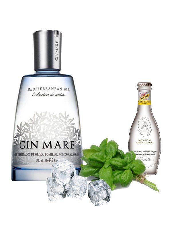 Gin Tonic con albahaca Gin Mare