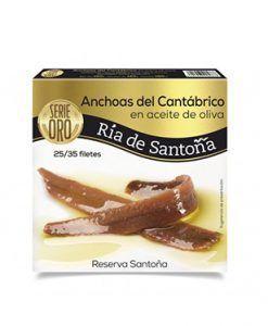 Anchoas de Santoña Serie Oro Pandereta Ría de Santoña