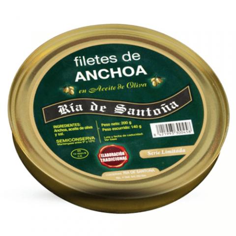 Anchoas de santoña serie oro pandereta