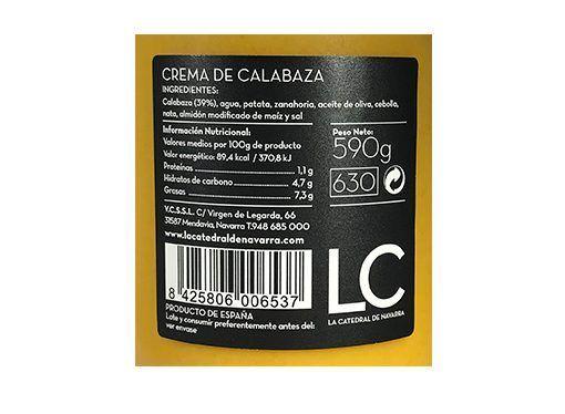 Acheter crème de potiron La Catedral de Navarra