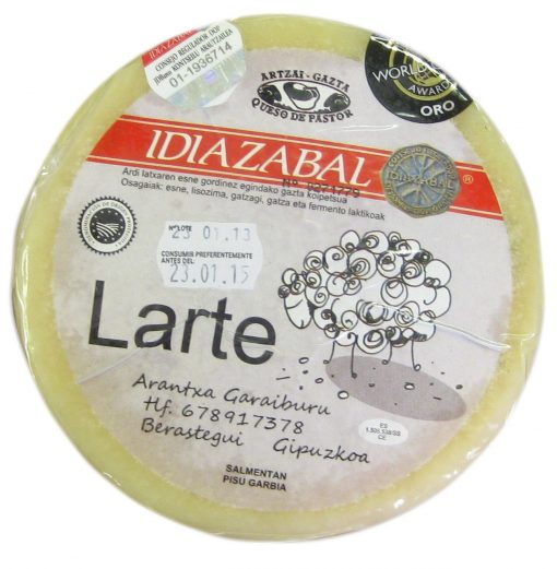 Idiazabal cheese shepherd Larte Piece