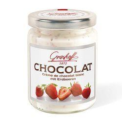 Crema de chocolate blanco con fresas Grashoff