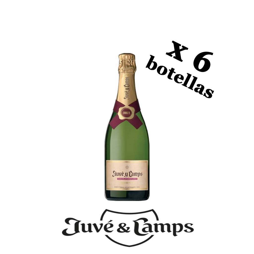 Cava Cinta Púrpura Juvé y Camps basket 6 bottles