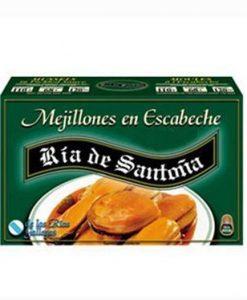 Mejillones en escabeche 8-12 piezas Ría de Santoña