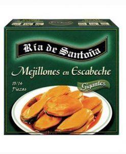 Comprar Mejillones en escabeche 10-14 piezas Ría de Santoña