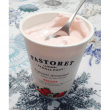 Yogourt à la fraise fait à la main