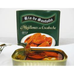 Mejillones en escabeche 10-14 piezas Ría de Santoña