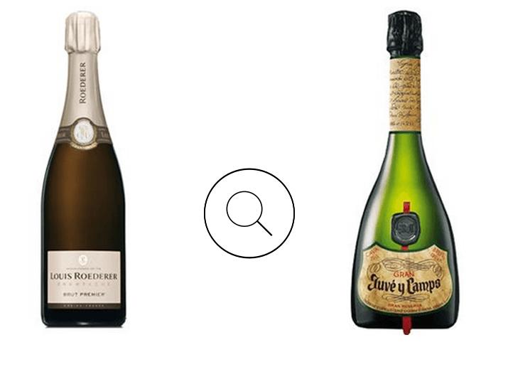Cava Gran Juvé y Camps y Champagne Louis Roederer Brut Premier