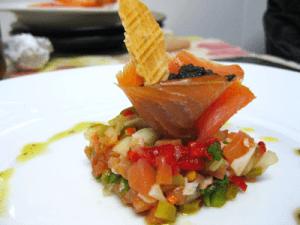 Conos de salmón y chatka