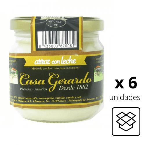 Arroz con leche Casa Gerardo (Caja 6 unidades)