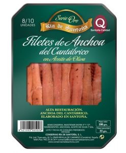 Cantabrian anchovies 00 8-10 fillets Ría de Santoña