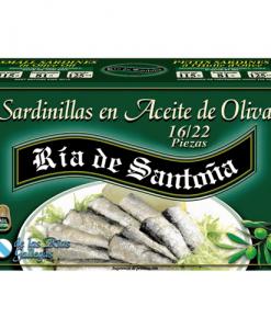 Sardinillas en aceite de oliva 16-22 piezas Ría de Santoña