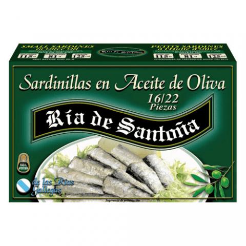 Sardines in olive oil 16-22 Ría de Santoña