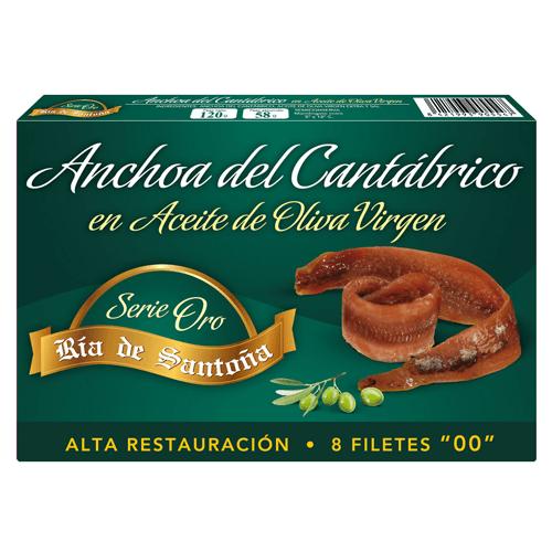 Anchoas de Santoña 00 Alta Restauración 8 filetes Ría de Santoña