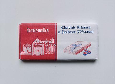 Chocolate Subiza artesano al pacharán 70% cacao