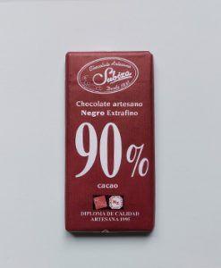 Chocolate Subiza artesano negro extrafino 90% cacao