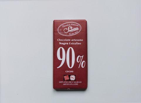 Artisan dark chocolate 90% cocoa Subiza