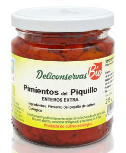 Organic piquillo peppers Deliconservas
