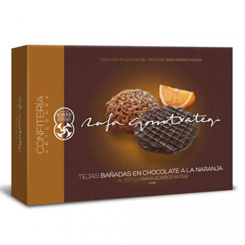 Black and orange Chocolate tiles Rafa Gorrotxategi - Image