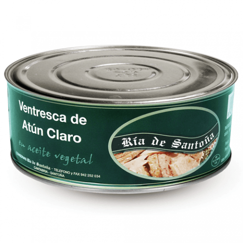 Ventresca de thon à l'huile végétale 900 grs. Ria de Santoña