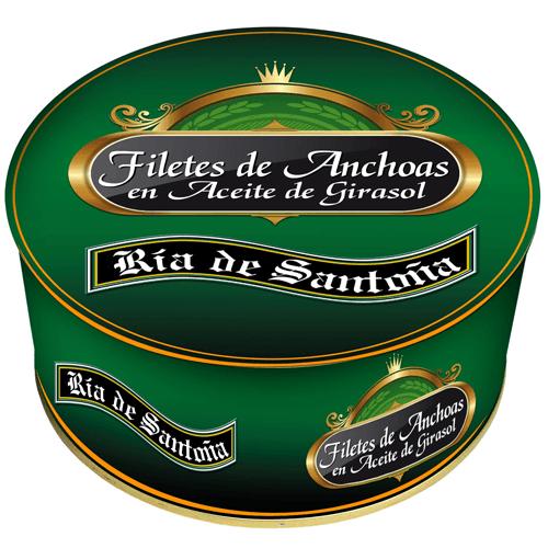 Anchovies in oil Ría de Santoña 1kg
