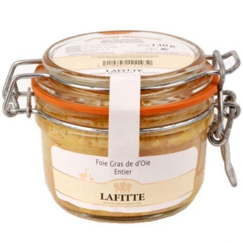 Foie gras d'oie entier Lafitte 130 gr Bocal