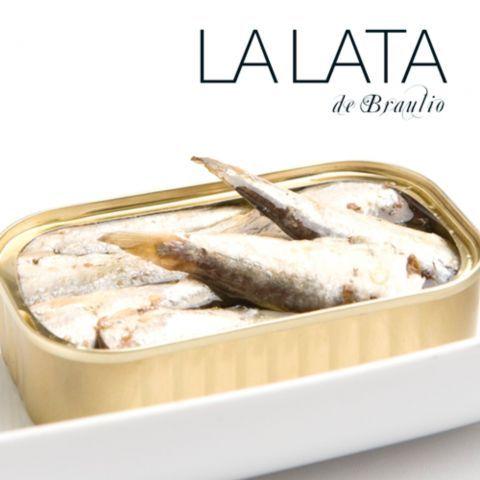 Petites sardines à l'huile d'olive 14-16 La Lata de Braulio