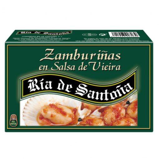 zamburiñas en salsa vieira ria de santoña