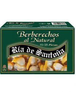 Comprar Berberechos al natural 25-35 Ría de Santoña