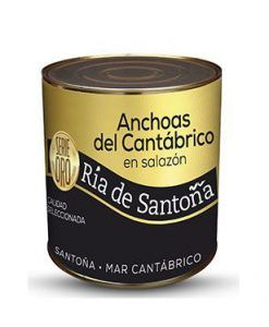 Anchoas en salazón de retorno Ria de Santoña