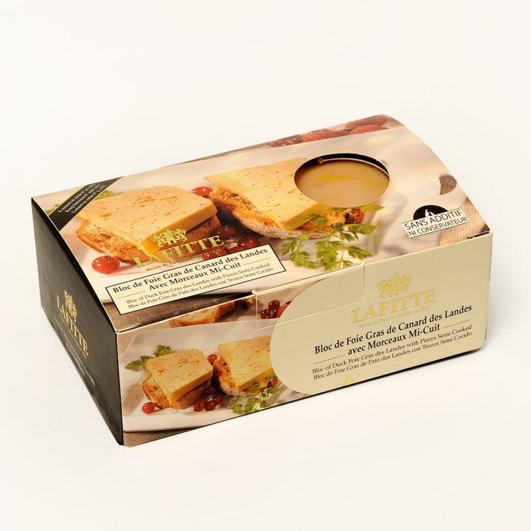 Bloc de foie gras de canard Micuit Lafitte 200 grs