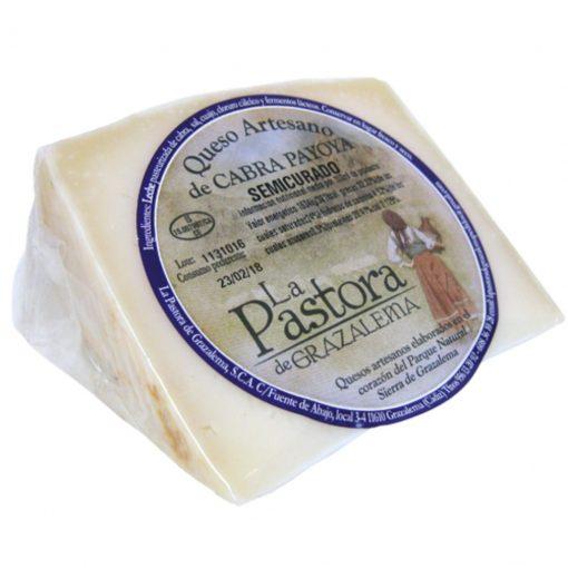 Semi-cured artisan goat Cheese Wedge