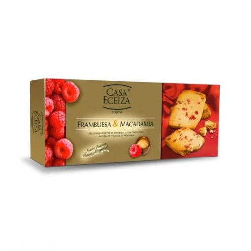 Casa Eceiza galletas frambuesa macadamia