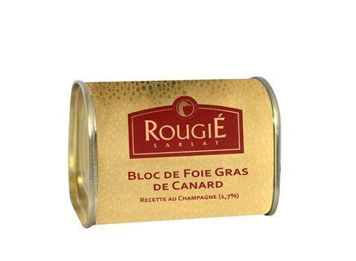 Comprar Bloc de foie gras de pato con champagne Rougié