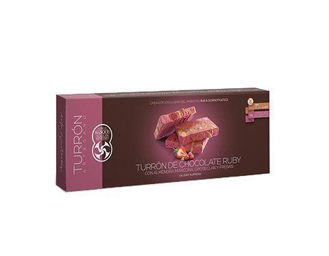 Comprar Turrón de chocolate ruby con almendra marcona