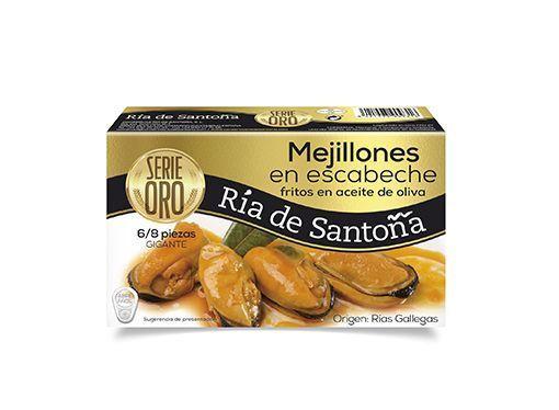 Comprar Mejillones en escabeche 6-8 piezas Ría de Santoña