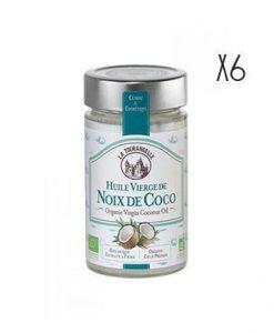 Organic coconut oil La Tourangelle 6 bottles of 31.4 cl.