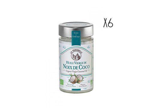Aceite de coco virgen Ecológico La Tourangelle 6 botellas de 31,4 cl.
