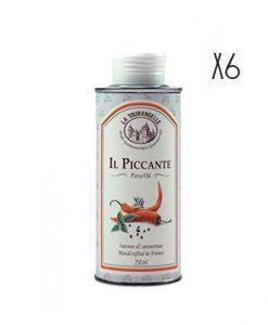 Aceite de oliva macerado con guindilla La Tourangelle 6 botellas de 25 cl.