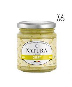 Salsa curry Natura 6 tarros de 160 g.