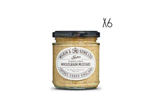 Mostaza en grano Tiptree 6 tarros de 185 g