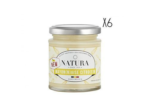 Lemon mayonnaise Natura 6 jars of 160 g.