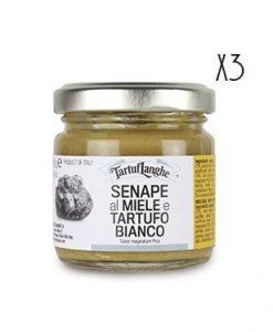 Mostaza con miel de trufa blanca Tartuflanghe 3 tarros de 100 g.