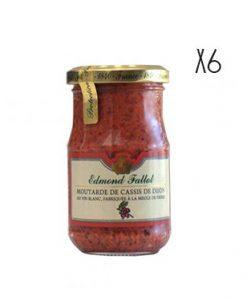 Cassis Mustard Edmond Fallot 6 jars of 205 g.