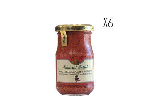 Mostaza en grano al Cassís Edmond Fallot 6 tarros de 205 g.