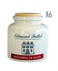 Mostaza Dijon Cerámica Edmond Fallot 6 tarros de 250 g.