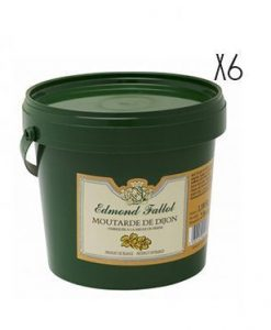 Mostaza Dijon Edmont Fallot 1100 g 6 tarros de 1,1 kg.