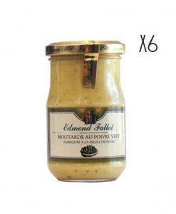 Dijon Mustard with green pepper Edmond Fallot 6 jars of 210 g