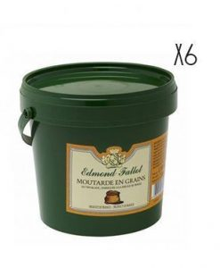 Mostaza en grano Edmond Fallot 1100 g 6 tarros de 1,1 kg.