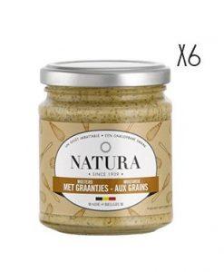 Mostaza en grano Natura 6 tarros de 160 g.
